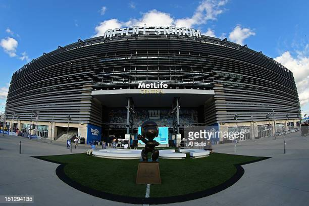 MetLife Stadium is seen prior to the 2012 NFL season opener between the New York Giants and the Dallas Cowboys on September 5, 2012 in East...