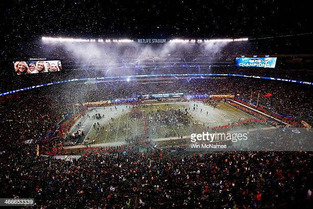 MetLife Stadium is shown after the Seattle Seahawks won Super Bowl XLVIII at MetLife Stadium on February 2 2014 in East Rutherford New JerseyThe...