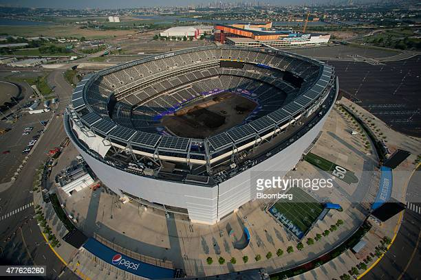 Metlife Stadium stands in this aerial photograph taken above East Rutherford New Jersey US on Wednesday June 10 2015 US stocks rallied and the dollar...