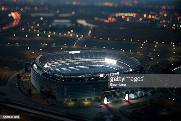 MetLife Stadium stands in this aerial photograph taken with a tiltshift lens in East Rutherford New Jersey US on Tuesday Dec 3 2013 US stocks...