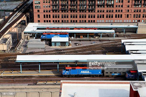 Metra Train Station as photographed from the Chicago Transit Authority Headquarters Building's Green Roof during the Chicago Architecture...