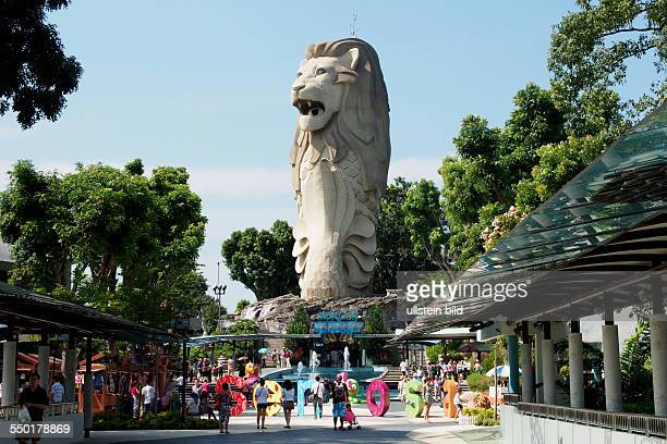 37 metres high Merlion Statue with lookout on top on Sentosa Island Singapore 010313