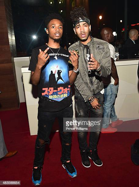 Metro Boomin and DJ Esco attend Future Album Release Party at Gold Room on July 30 2015 in Atlanta Georgia