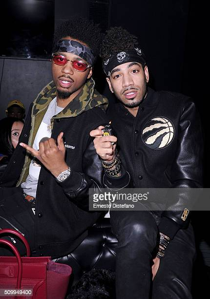 Metro Boomin and DJ Esco attend the Viber leading mobile messaging app and YesJulz NBA All Star Game Party at La Vie Nightclub on February 12 2016 in...