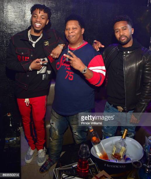 Metro Boomin Mannie Fresh and Zaytoven attend the BMI Holiday Party at O2 Lounge on December 14 2017 in Atlanta Georgia