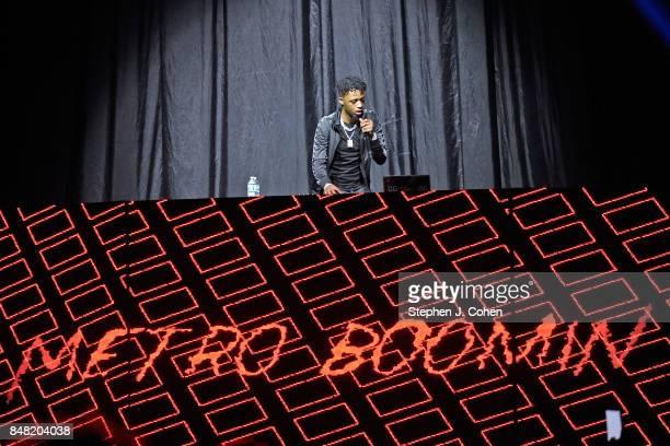 Metro Boomin performs at KFC YUM Center on September 16 2017 in Louisville Kentucky