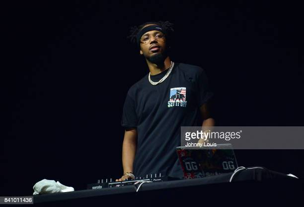 Metro Boomin performs on stage during Bryson Tiller's Set It Off tour at Watsco Center on August 29 2017 in Coral Gables Florida