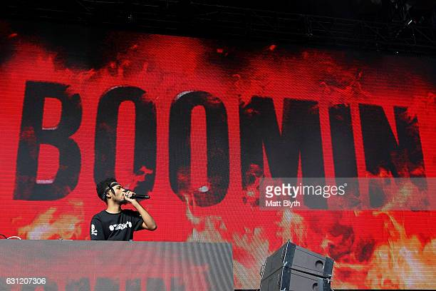 Metro Boomin performs on stage during FOMO Festival at The Crescent Parramatta Park on January 8 2017 in Sydney Australia