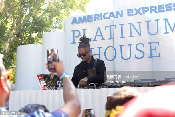 Metro Boomin spins onstage at the American Express Platinum House at the Avalon Hotel Palm Springs on April 13 2019 in Palm Springs California
