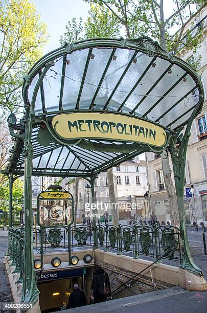 metro entrance in paris - paris metro sign stock pictures, royalty-free photos & images