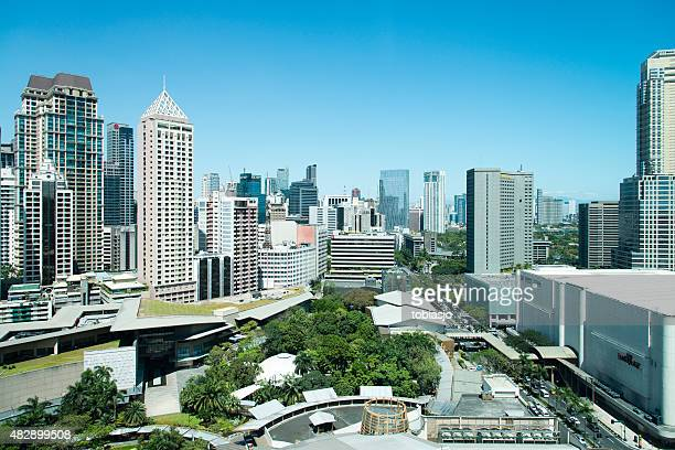 metro manila philippines - makati stock photos and pictures