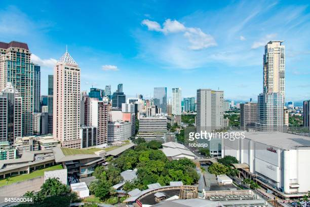metro manila - makati stock photos and pictures