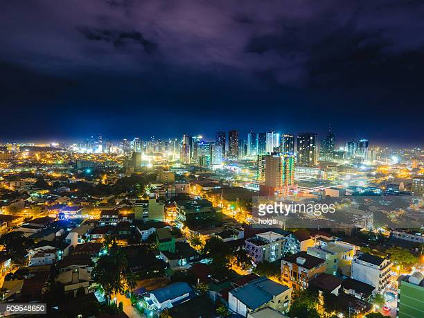 Metro Manila skyline at night