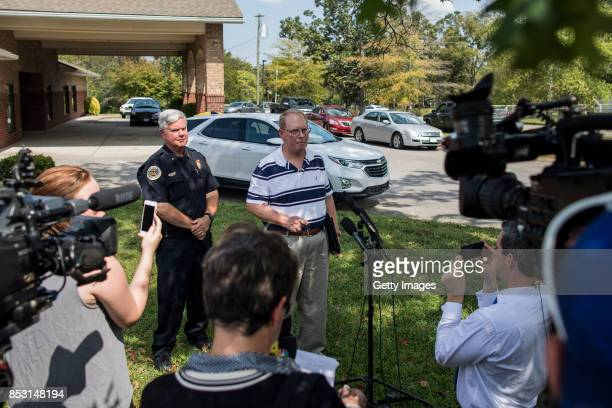 Metro Nashville Police Department Public Affairs Manager Don Aaron answers questions related to the shooting at Burnette Chapel Church of Christ on...