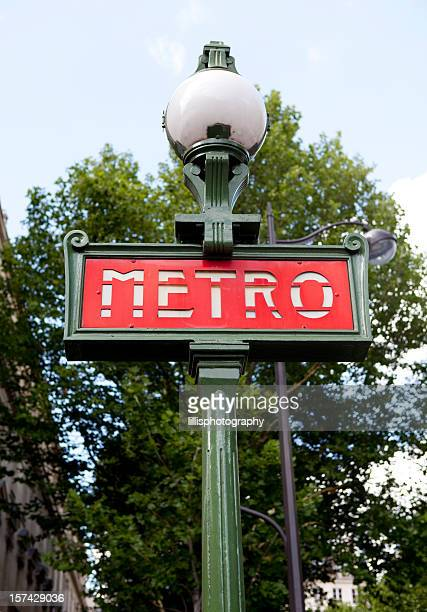 metro sign in paris france - paris metro sign stock pictures, royalty-free photos & images