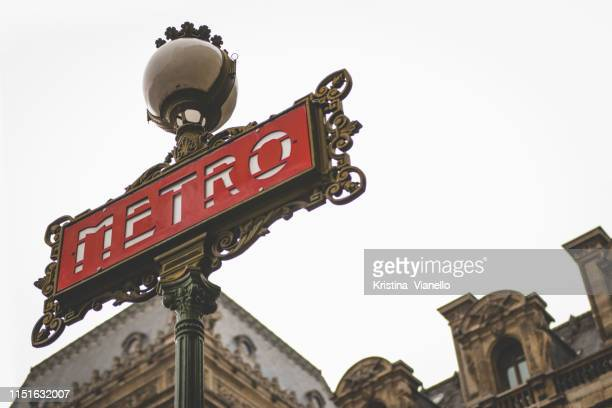 metro sign - paris metro sign stock pictures, royalty-free photos & images