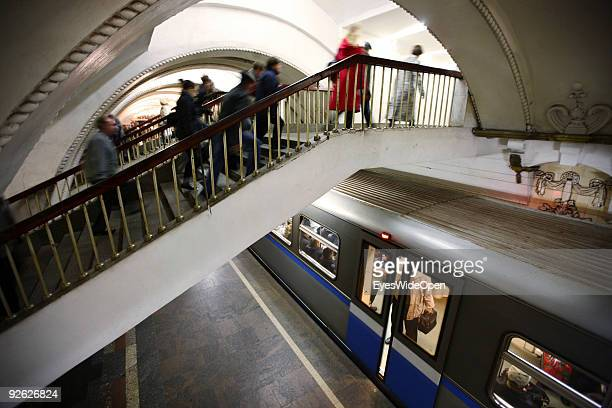 Metro Station around Revolution square on October 14 2009 in Moscow Russia Moscow is the biggest European City with more than 15 million inhabitants