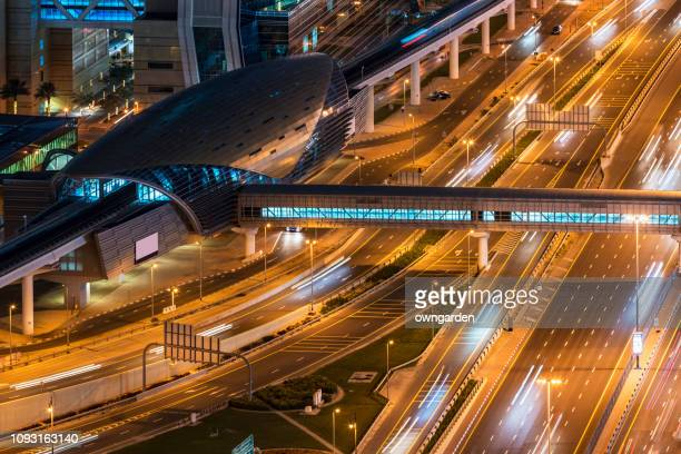 metro station in dubai - underground station stock pictures, royalty-free photos & images