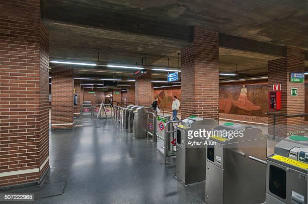 Metro Station in Madrid, Spain