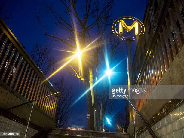 Metro Station in the Twilight