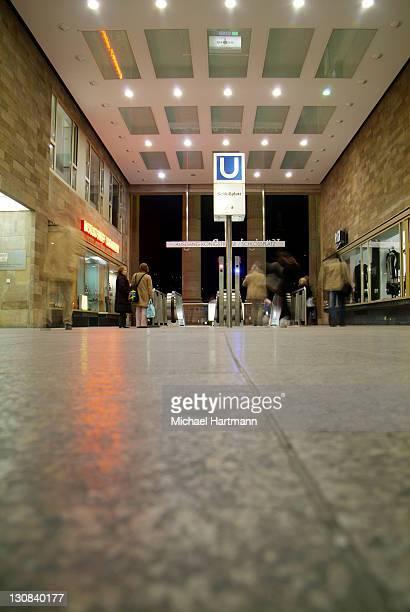 metro station, stuttgart, germany - low angle view photos et images de collection