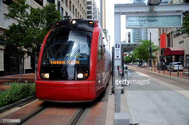 Metro Train In Downtown Houston, Texas