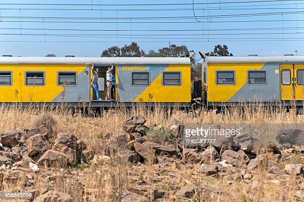 metro train to soweto - soweto stock pictures, royalty-free photos & images