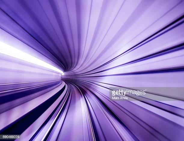 Metro tunnel at high speed