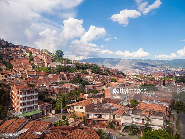 metrocable cable cars, medellin, colombia - medellin colombia stock pictures, royalty-free photos & images