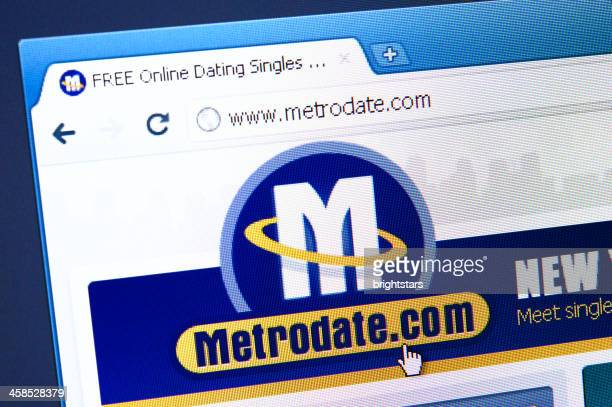 Metrodate.com webpage on the browser