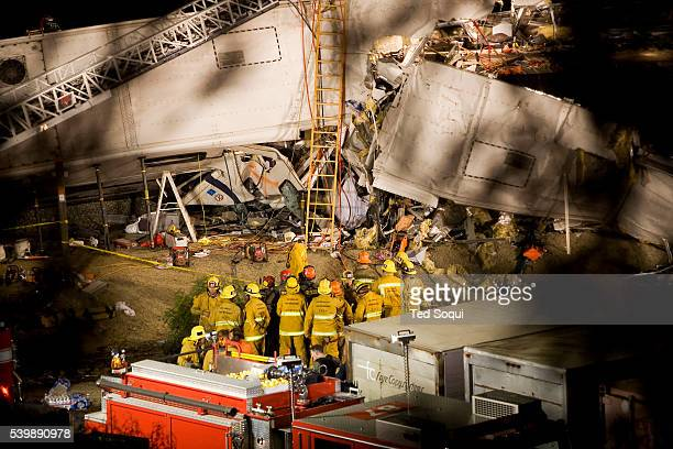 Metrolink commuter train with 222 people aboard crashed into a freight train in Chatsworth, California. 10 people have been confirmed dead, and over...