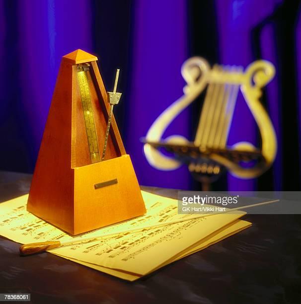Metronome and sheet music