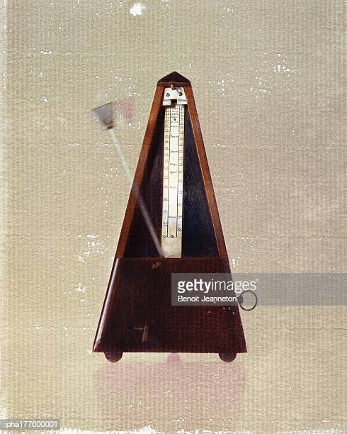 Metronome, close-up, blurred motion