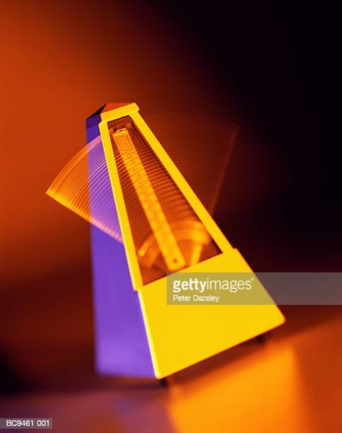 Metronome, close-up (brightly lit, long exposure)