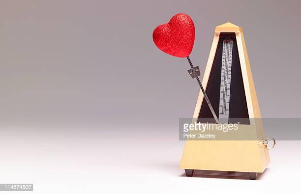 Metronome with heart shape