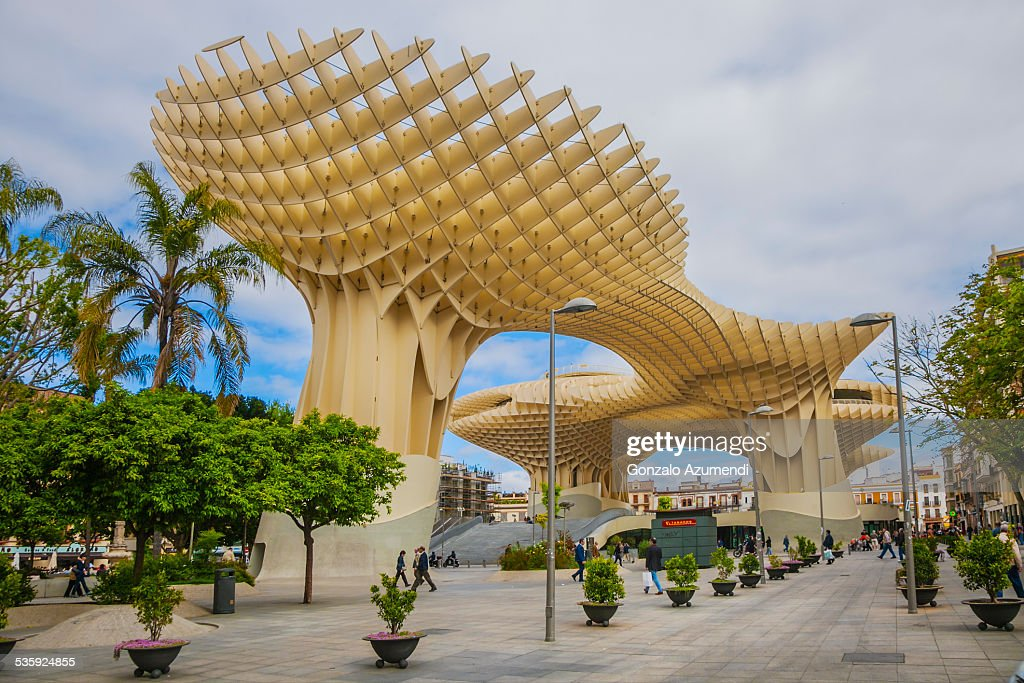 Metropol Parasol in Seville in Andalusia. : Stock Photo