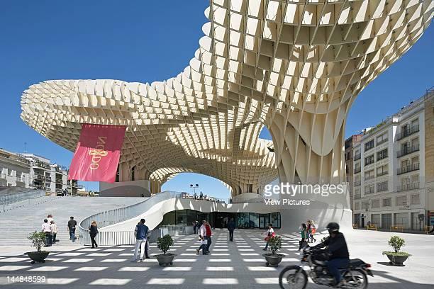 Metropol Parasol Plaza De La Encarnación Sevilla Andalucia Spain Architect Jürgen Mayer H Architects Metropol Parasol Seville Spain