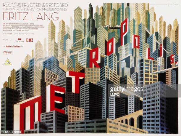 Metropolis poster British poster art for 2010 restoration and rerelease 1927