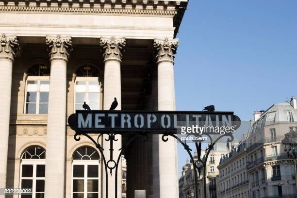 Metropolitain sign and entrance to the Paris Metro