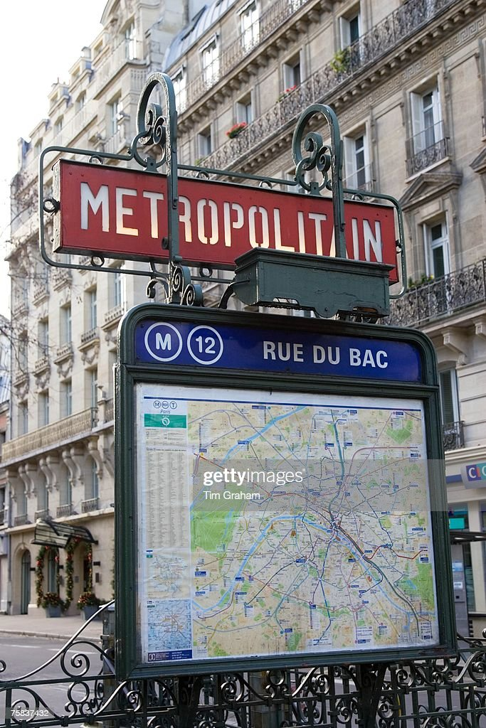 Metropolitain Sign Map Paris France Pictures Getty Images - Rue france map