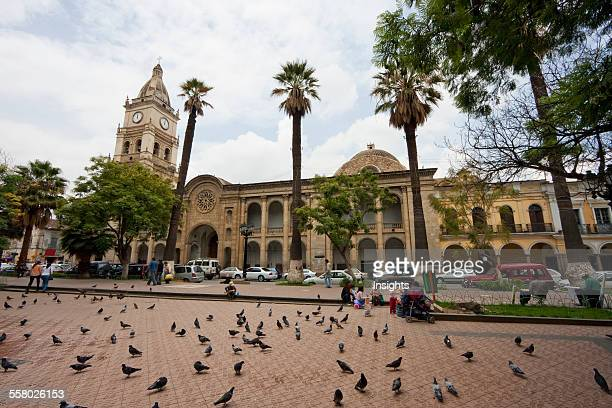 Metropolitan Cathedral and Plaza 14 de Septiembre, Cochabamba, Bolivia