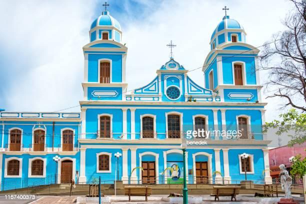 metropolitan cathedral in downtown santarem para brazil - para state stock pictures, royalty-free photos & images