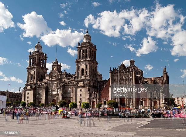 catedral metropolitana, mexico city - cathedral stock pictures, royalty-free photos & images