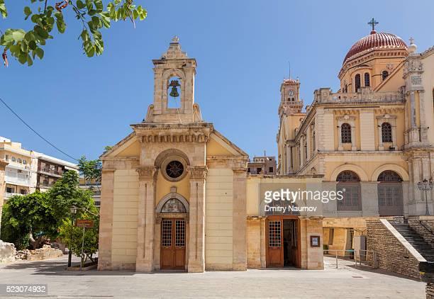 Metropolitan Church of Agios Minas Cathedral in Heraklion, island of Crete, Greece, Mediterranean