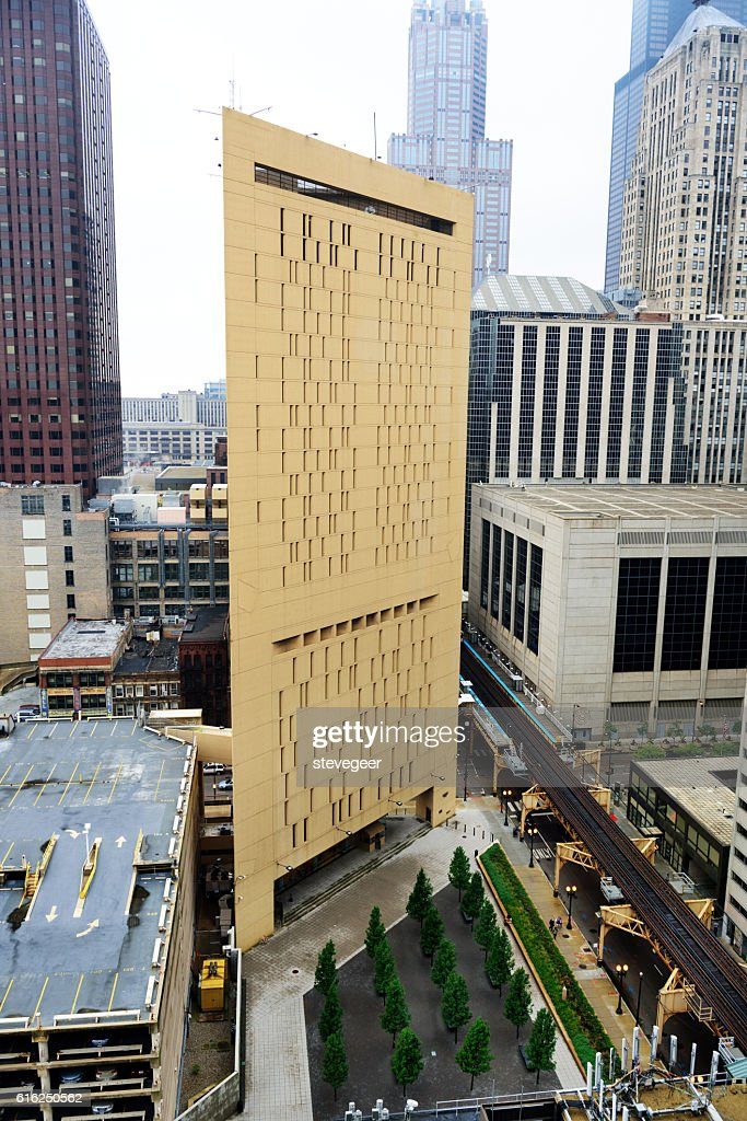 Metropolitan Correction Center, downtown Chicago : Stock Photo