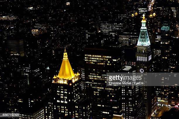 Metropolitan Life Insurance Company Tower In City At Night