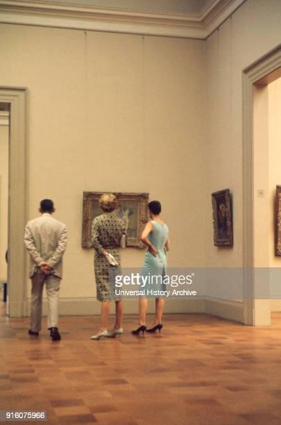 Metropolitan Museum of Art Interior View New York City New York USA July 1961
