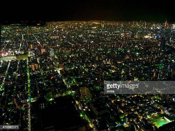 metropolitan night - kanto region stock photos and pictures