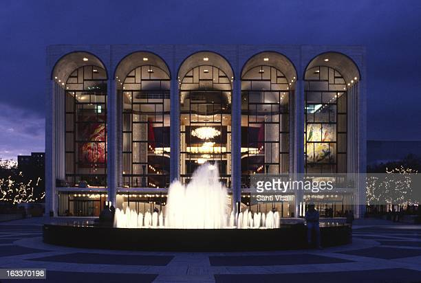 Metropolitan Opera by Wallace K. Harrison at night on September 23, 1985 in New York, NewYork.