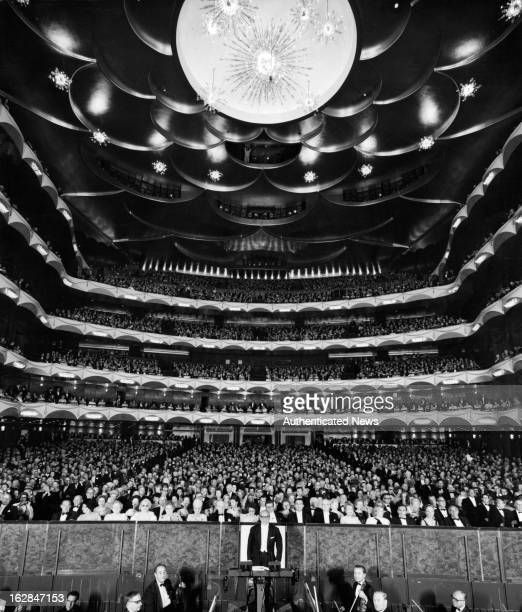 Metropolitan Opera House-Lincoln Center with a full house, New York City, New York opening night, 1955.